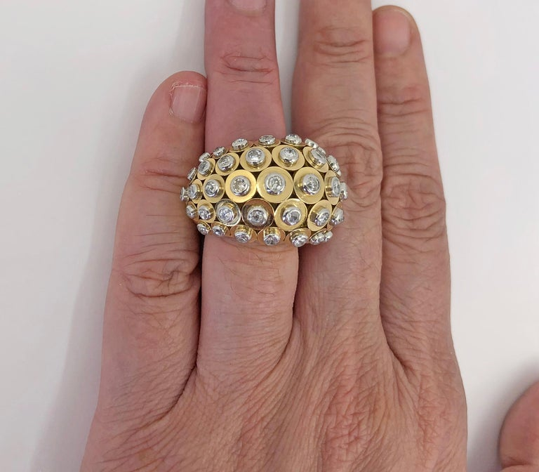 Women's or Men's Cartier Diamond Dome Ring For Sale