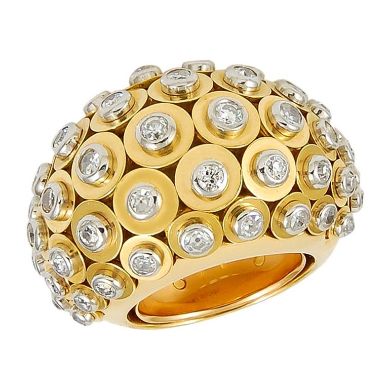 Cartier Diamond Dome Ring For Sale