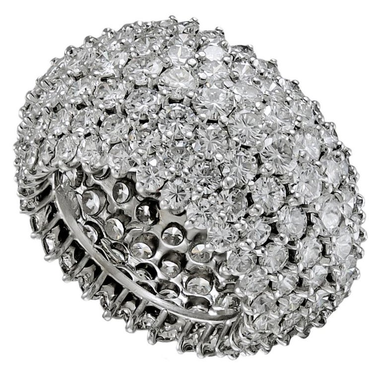 Women's Cartier Diamond Dome Band Ring For Sale