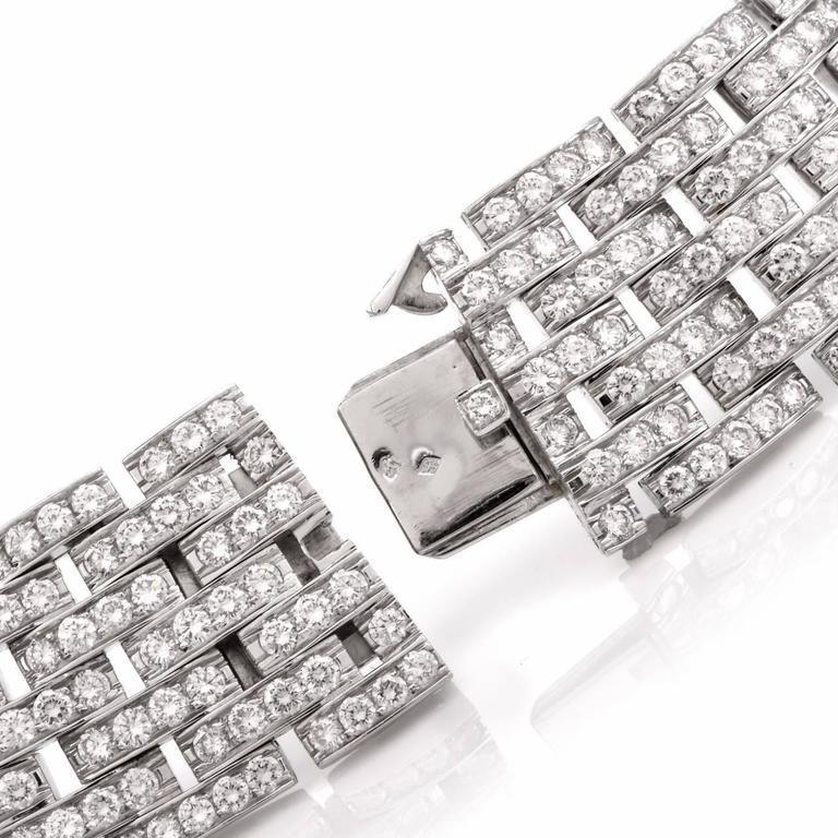 Women's Cartier Diamond Double C 18 Karat White Gold Choker Necklace For Sale