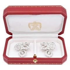 "Cartier Diamond ""Dragon"" Cufflinks"