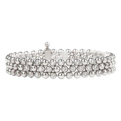 Cartier Diamond Draperie 18 Karat White Gold Multi Strand Bracelet