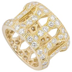 Cartier Diamond Dress Ring 3.52 Carat