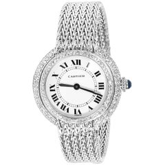 Cartier Diamond Dress Women's Watch in 18 Karat White Gold