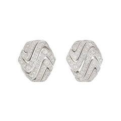 Cartier Diamond Earrings 1.74 Carat