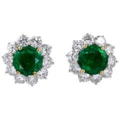 Cartier Diamond, Emerald Earrings