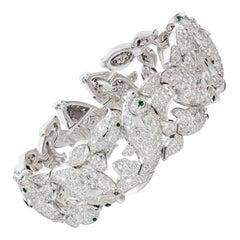 Cartier Diamond Emerald Fish Bracelet