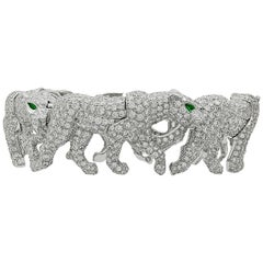 Cartier Diamond Five Walking Panther Bangle
