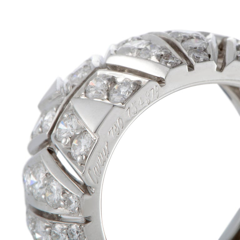 Women's Cartier Diamond Gold Band Ring For Sale