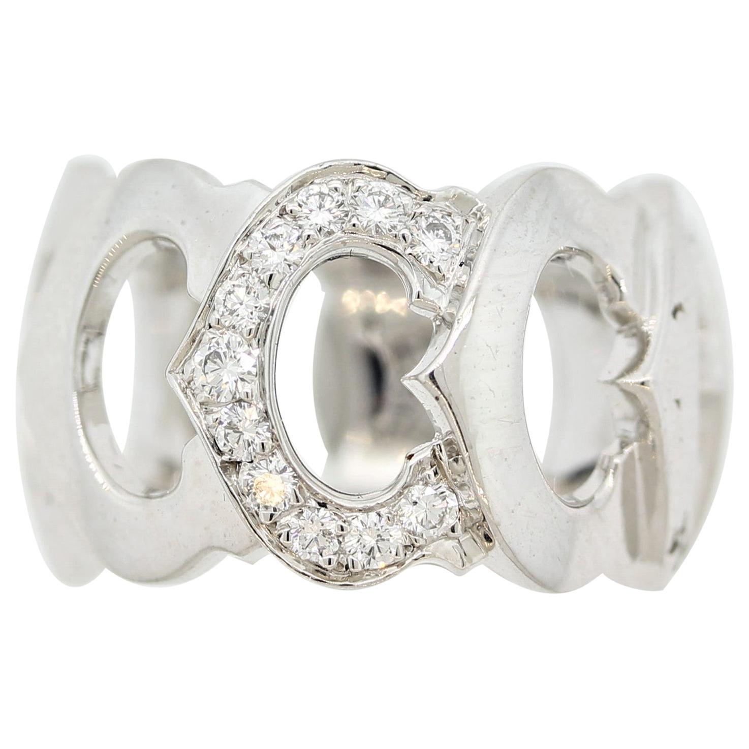 Cartier Diamond Gold C-de-Cartier Band Ring