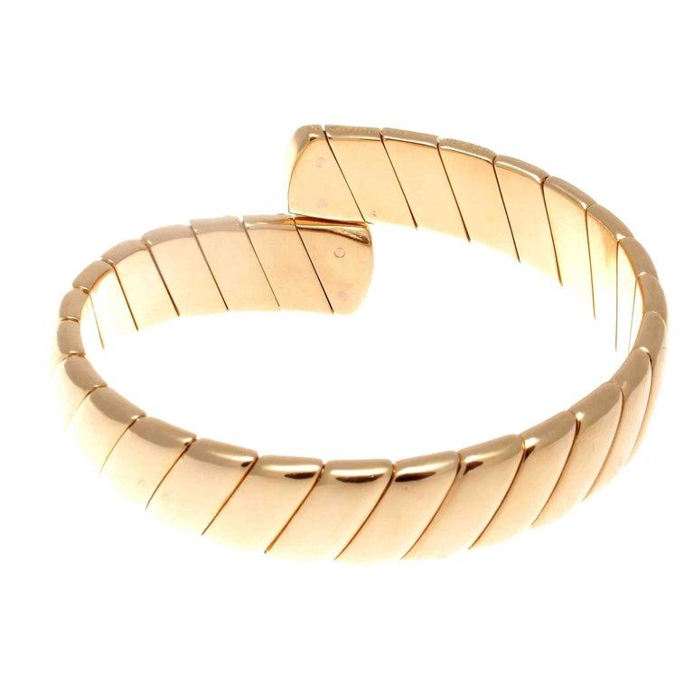 Modern Cartier Diamond Gold Cuff Bracelet For Sale
