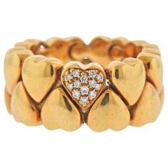 Cartier Diamond Gold Heart Band Ring