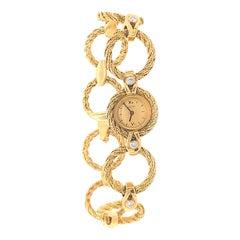 Cartier Diamond Gold Link Watch