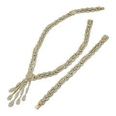 Cartier Diamond Gold Long Necklace/Bracelet
