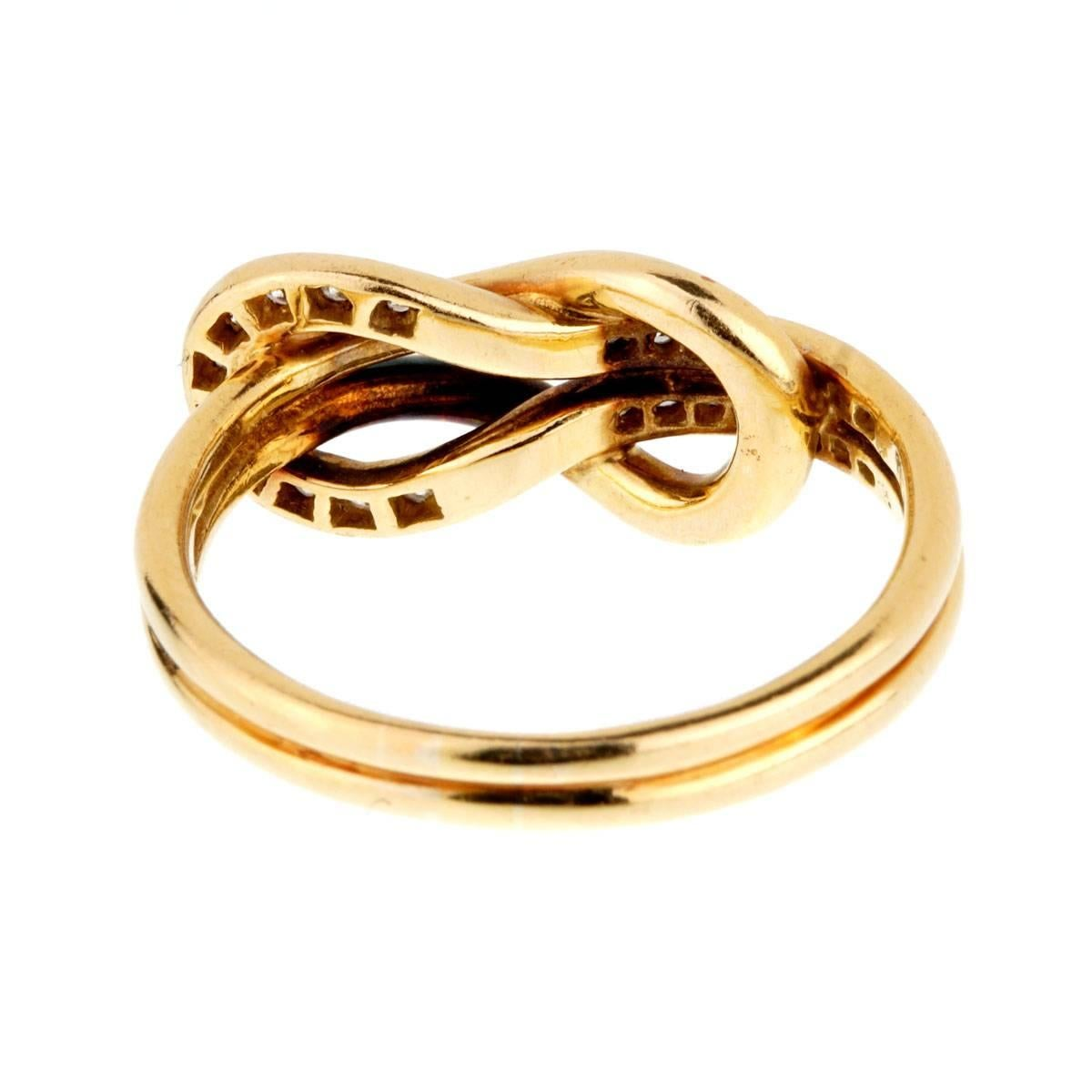 Cartier Diamond Gold Love Knot Ring At 1stdibs