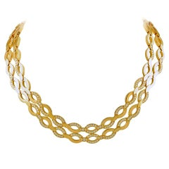 Cartier Diamond Gold Necklace