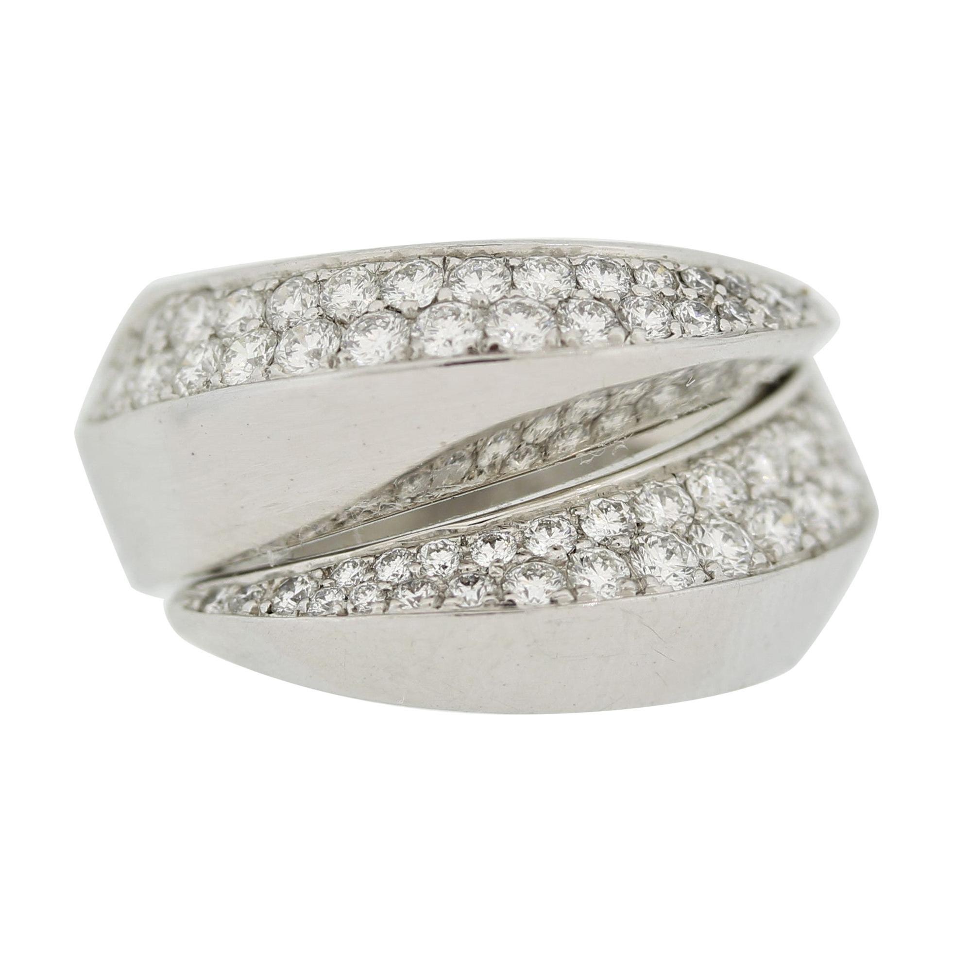 Cartier Diamond Gold Panthère Griffe Ring