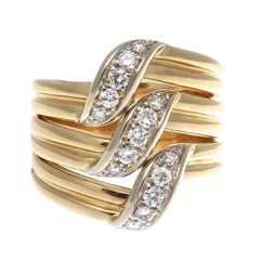 Cartier Diamond Gold Ring