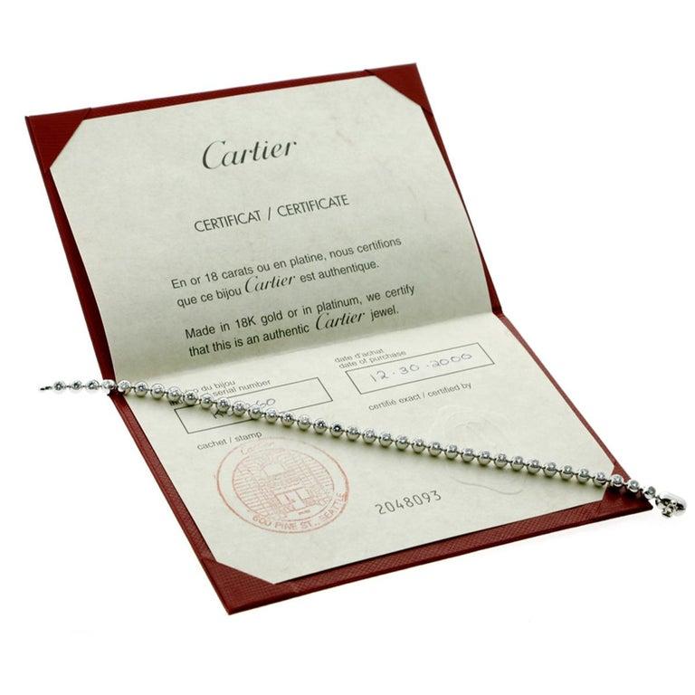 Women's or Men's Cartier Diamond Gold Tennis Bracelet For Sale
