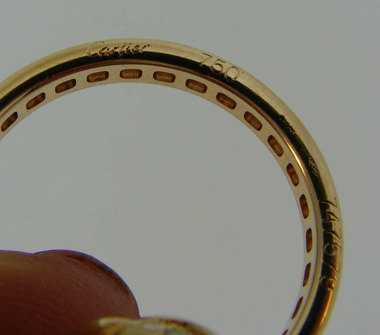 Cartier Diamond Gold Trinity Band Ring For Sale 1
