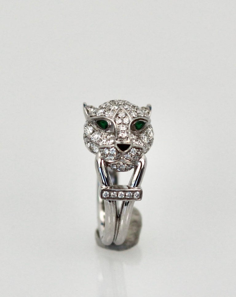 Women's Cartier Diamond Head Panthere Ring For Sale