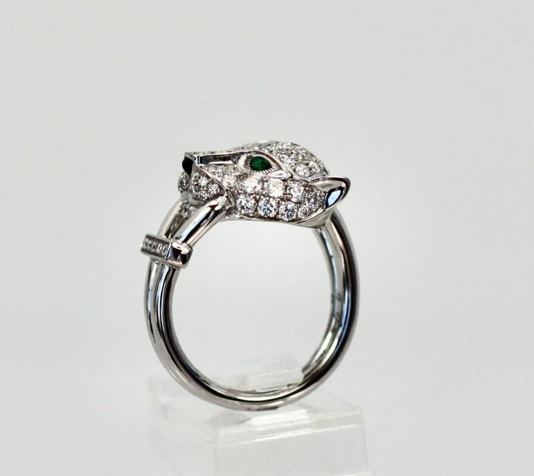 Cartier Diamond Head Panthere Ring For Sale 2
