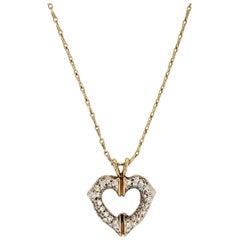 Cartier Diamond Heart Pendant