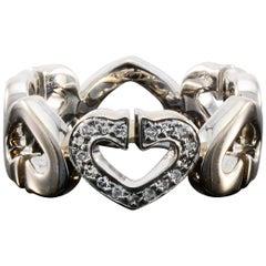 Cartier Diamond Heart Ring White Gold