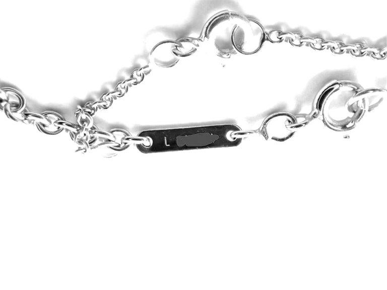 Cartier Diamond Heart White Gold Pendant Necklace For Sale 3