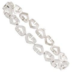 Cartier Diamond Hearts and Symbols Bracelet 1.81 Carat