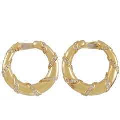 Cartier Diamond Hoop Ear Clips