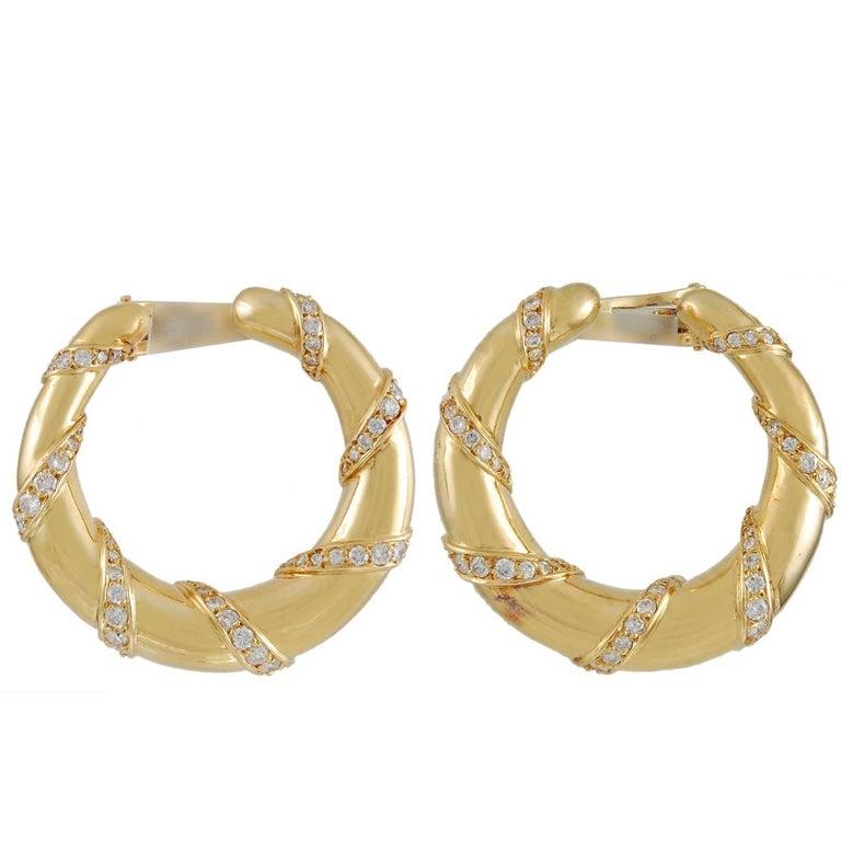 Cartier Diamond Hoop Ear Clips