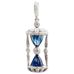 Cartier Diamond Iconic Hour Glass Pendant, Platinum