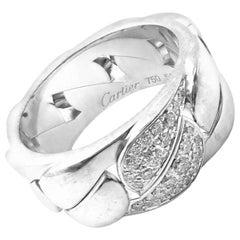 Cartier Diamond La Donna White Gold Band Ring