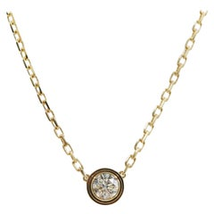 Cartier Diamond Légers Necklace, LM, 18 Karat Yellow Gold