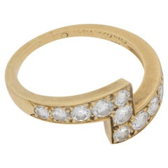 Cartier Diamond Lightening Bolt Cocktail / Engagement Ring in 18 Karat Gold