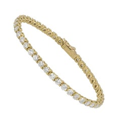 Cartier Diamond Line Tennis Bracelet 4.20 Carat