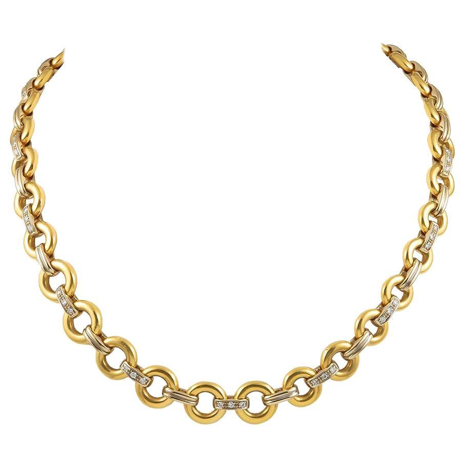 Cartier Diamond Link Necklace