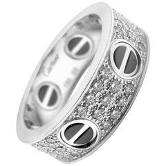 Cartier Diamond Love Ring 18 Karat White Gold 0.74 Carat