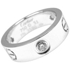 Cartier Diamond Love White Gold Band Ring