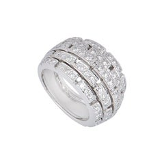 Cartier Diamond Maillon Panther Bombe Ring