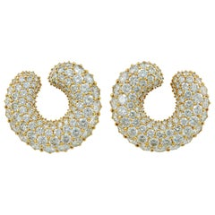Cartier Diamond Marrakech Gold Ear Clips