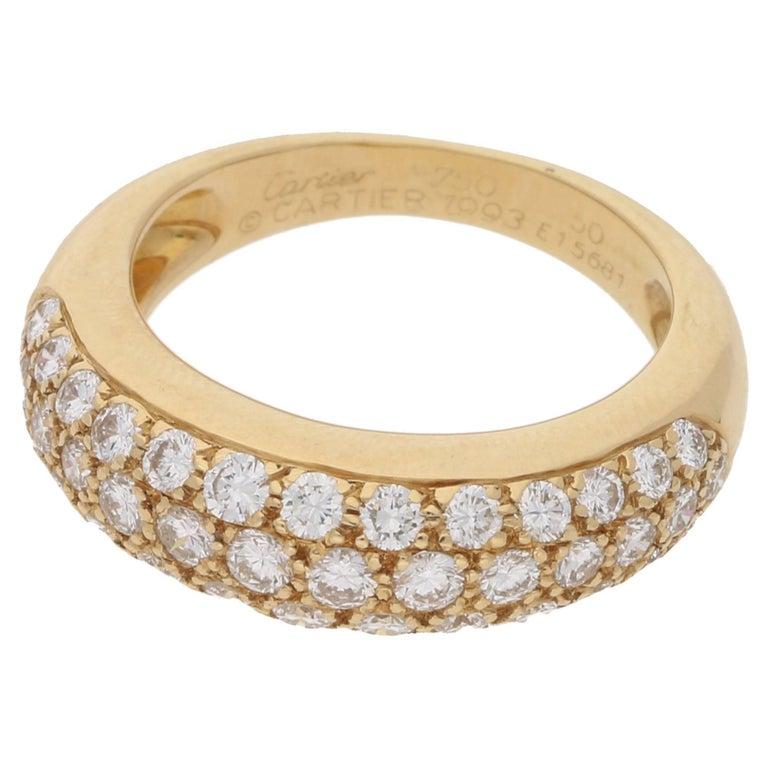 Cartier Diamond Mimi Ring 18 Karat Gold