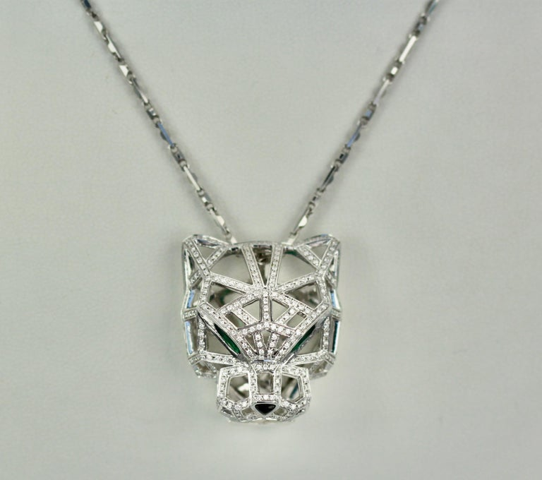 Cartier Diamond Open Panthere Pendant/Necklace For Sale 2