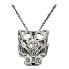 Cartier Diamond Open Panthere Pendant/Necklace