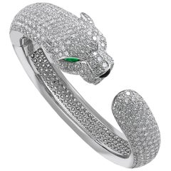 Cartier Diamond Panther Bangle Bracelet