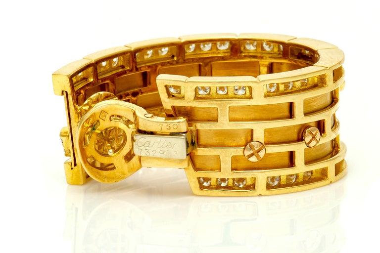 Women's Cartier Diamond Panther Earrings For Sale