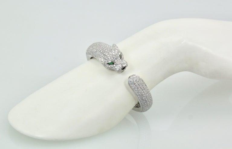 Cartier Diamond Panthere Bracelet 15.74 Carat For Sale 5