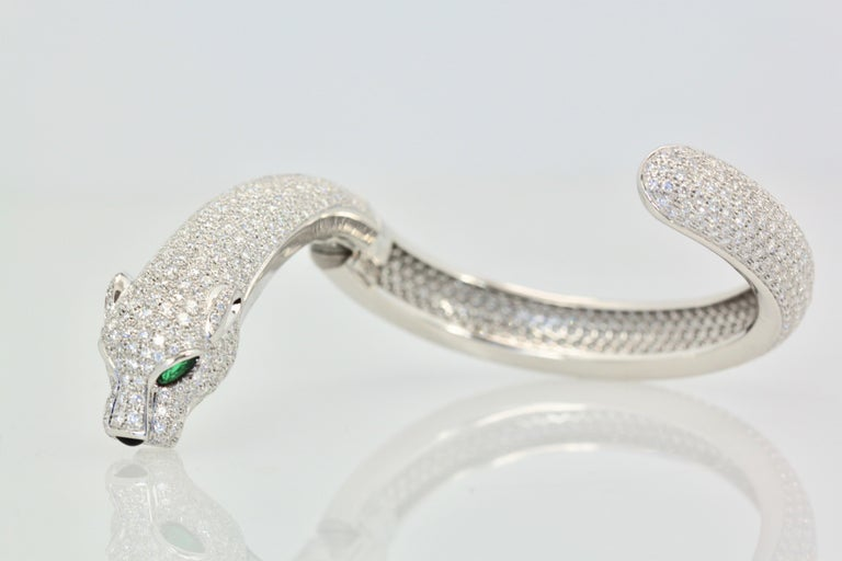 This Cartier all Diamond Panthere Bracelet is the cream of the crop.  I have owned several but this one is the best of the best.  It is completely covered in F Diamonds with a clarity grade of VS and it does come with a Certificate of Authenticity