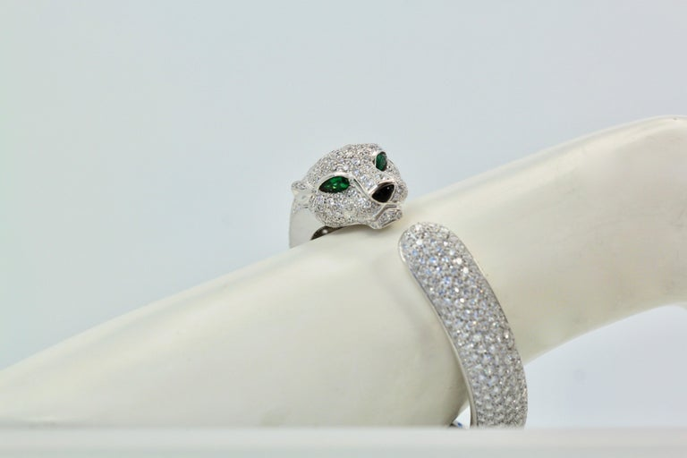 Cartier Diamond Panthere Bracelet 15.74 Carat In Excellent Condition For Sale In North Hollywood, CA
